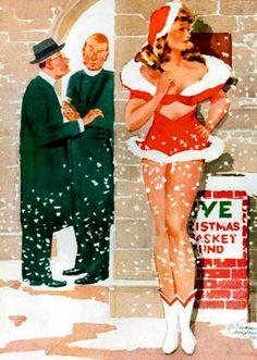 Christmas pinup