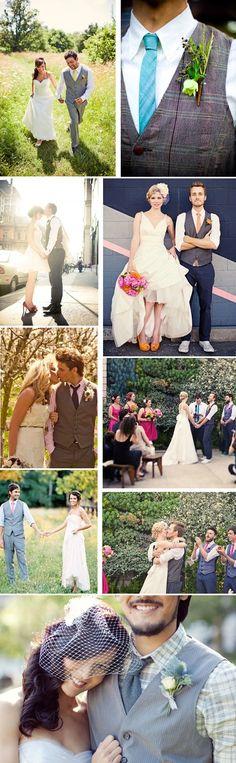 Just a Vest – Grooms Attire | WeddingAces
