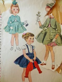 Vintage Simplicity 3782 Sewing Pattern, Childs Dress Pattern, 1950s Sewing Pattern, Petticoat, Pattern Bolero, Chest 24, Vintage Sewing