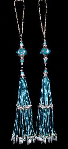 BEADED TASSELS  Maruti India BeadsTurquoise by GMBDesignsCustom, $29.00