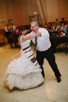Apron dance at wedding