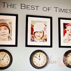 The clocks with the times of your kids birth.