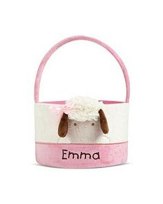 Personal Creations #Gifts  #Personalizedgifts Perfect Easter Lamb Basket - Pink - Great Personalized Gifts via- http://www.AmericasMall.com/personalcreations-gifts