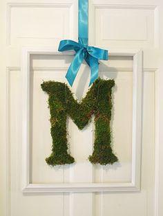 the Mathews Family Happenings: mossy monogram and weekend recap