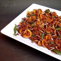Crispy Eggplant Chips - make a great side-dish.