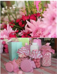 Pink Polka Dot Baby Shower Party Ideas! See more party ideas at CatchMyParty.com!