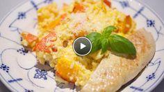Oranje risotto met kalkoen