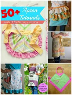 Apron Tutorial Round up | Over 50 tutorials collected | patchwork posse #apron #tutorial