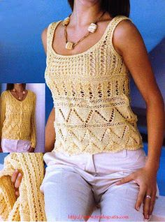 Free Knitting Patterns - Jacket and Top