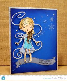 Snow Princess Birthday Card by Annie Williams for Silhouette