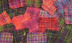 More woven koigu yarn squares
