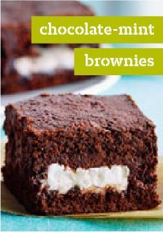 Chocolate-Mint Brownies – Semi-sweet chocolate meets chocolate-covered mint patties in this scrumptious recipe for Chocolate-Mint Brownies. Definitely a win-win situation.