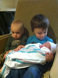 The Moment He Realized He Was Now The Middle Child...