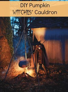DIY Pumpkin Witches' Cauldron