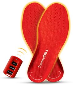 ThermaCELL Heated Insoles Foot Warmers with Wireless Remote Control