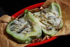 Vegetarian Cheese Steak Stuffed Pepper Recipe – 3 Points   - LaaLoosh