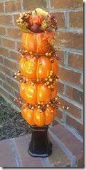 Pumpkin topiary pumpkintopiari, pumpkin topiari, pumpkins, duct pumpkin, fall decorating, topiaries, diy topiari