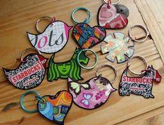 Artistic flair gift card key chain