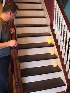 great tutorial for redoing stairs