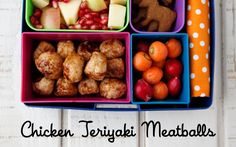 Chicken Teriyaki Meatballs + a Laptop Lunches Discount on Weelicious