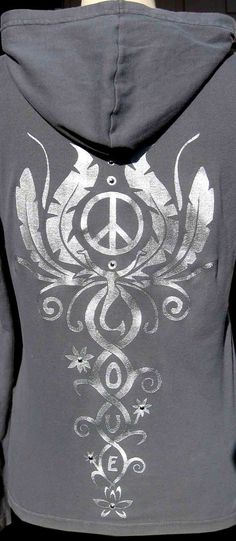 Love Peace and Harmony  Gray/Silver by MikelaBond on Etsy, $35.00