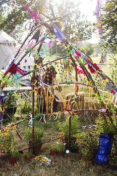 Wilderness+festival+children's+area+branches+decoration