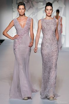 abed mahfouz fall 2012 couture sleeveless purple pale lilac lavender wedding dresses