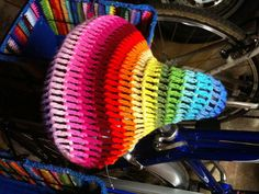 Crocheted Bicycle Seat by Crochet-ing Away