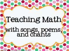 Resources for teaching math with songs