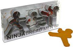 ThinkGeek :: Ninjabread Men Cookie Cutters