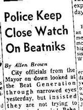 Newspaper Article on the Beat Generation