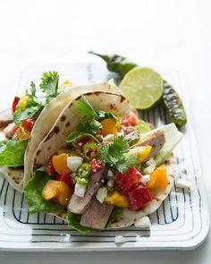 Tacos with Chunky Heirloom Tomato Salsa via Sweet Paul #SweetPaul
