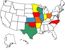 states I've been to. haha I def need to work on this if I want to visit all 50 :) bucket list