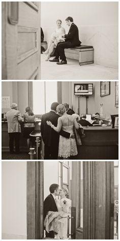 Courthouse wedding.