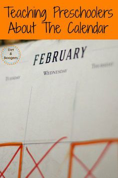 Give your preschooler their own calendar with color coding to help them understand the concept of days and months and to know what's coming up.