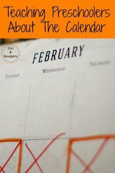 Teaching Preschoolers About the Calendar -