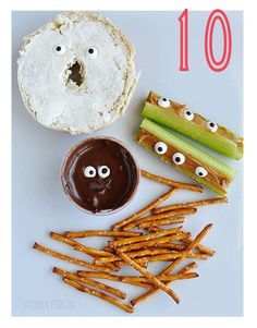 Funny Foods for April Fools' Day - just use sugar eyes!