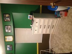 Another view of my son's John Deere bedroom that my husband painted!! Boy Room, Bedroom