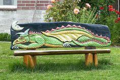 Dragon Bench, Langley, Whidbey Island, Washington