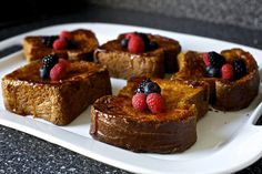 crème brûlée french toasts with Grand marnier
