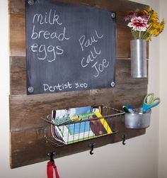 projects for fence boards | The metal basket hangs on two metal chair leg protector thingy bobbers ...