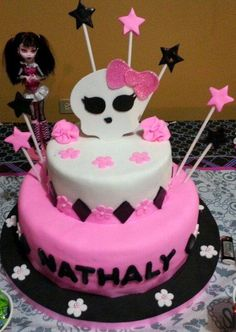 Torta de choco fresa monster high