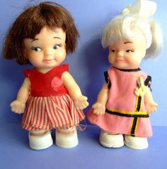Peewee Dolls.... My first experience sewing was making dresses for these dolls!