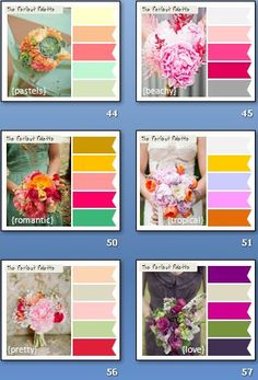 #Colour #ideas #palette for weddings ... #Wedding #Ideas for brides, grooms, parents & planners ... https://itunes.apple.com/us/app/the-gold-wedding-planner/id498112599?ls=1=8 plus how to organise an entire wedding, with the money you have available. ♥ The Gold Wedding Planner iPhone #App ♥