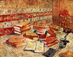 worldpaintings: Vincent Van Gogh  Still Life with French Novels and a Rose, 1887