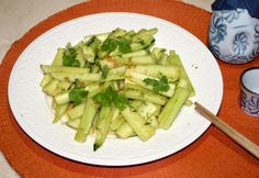 Quick Cucumber Salad with Asian Garlic Dressing