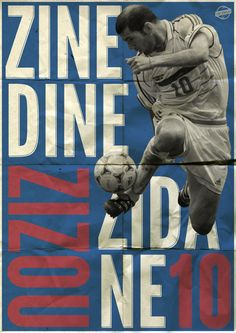 Zinedine Zidane Poster by Luke Barclay, via Behance