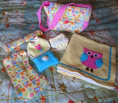 Baby Doll Diaper Bag & Accessories by KraftsbyAng on Etsy