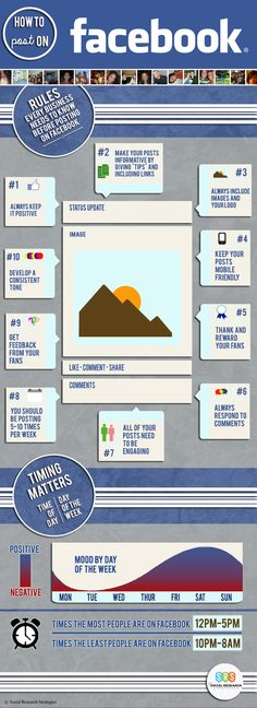 How to Post on Facebook [Infographic] #facebook #socialmedia