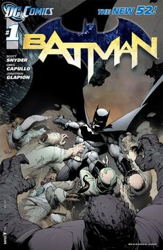 """COMING SOON - Availability: http://130.157.138.11/record= Batman Vol. 1: The Court of Owls (The New 52) Paperback – March 26, 2013 by Scott Snyder Batman puts down an insurrection at Arkham Asylum when one of the guards is paid to release the inmates.  Harvey Bullock discovers a tortured murder victim pinned to the wall of his apartment with numerous knives bearing an owl insignia. They find a hidden message on the wall saying that """"Bruce Wayne will die tomorrow,"""""""